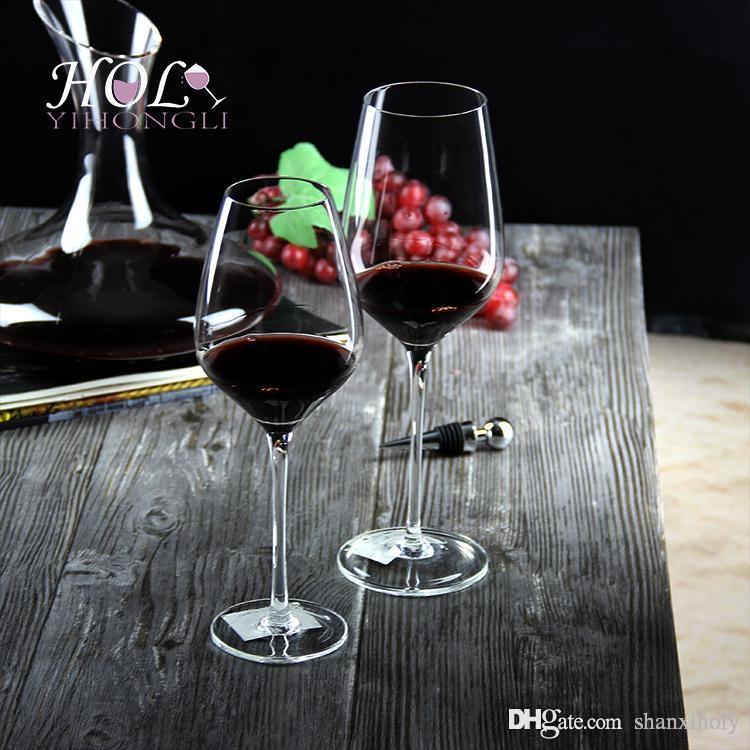 High End benutzerdefinierte Bleifrei Kristall Weinglas kann Größe angepasst werden