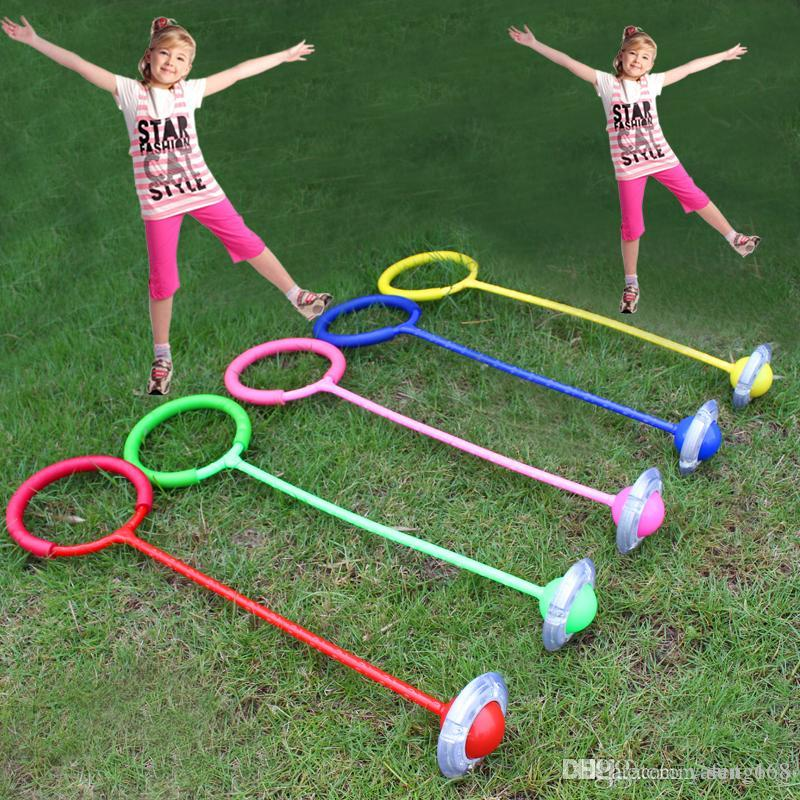 Free shipping children qq-hyun dance jumping ring flash jump jump ball with a rotating foot care leg jumping Intercropped Cotton Ball Toys