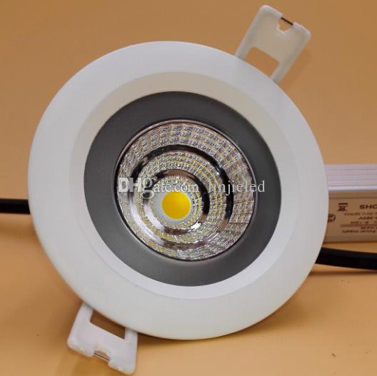 Wholesale - Super Power LED COB 10W / 15W COB LED Downlight AC110-240V Waterproof IP65 COB LED Recessed Ceiling Down Light