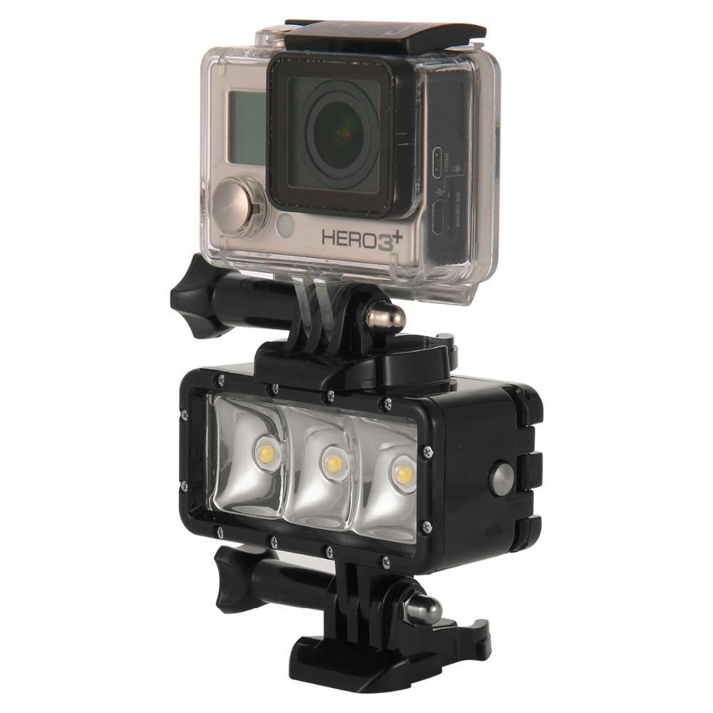 GoPro Diving flash Light Spot lamp Underwater Waterproof LED Flash Video Light For GoPro Hero 54Session SJCAM Xiaomi Yi 4K (7)