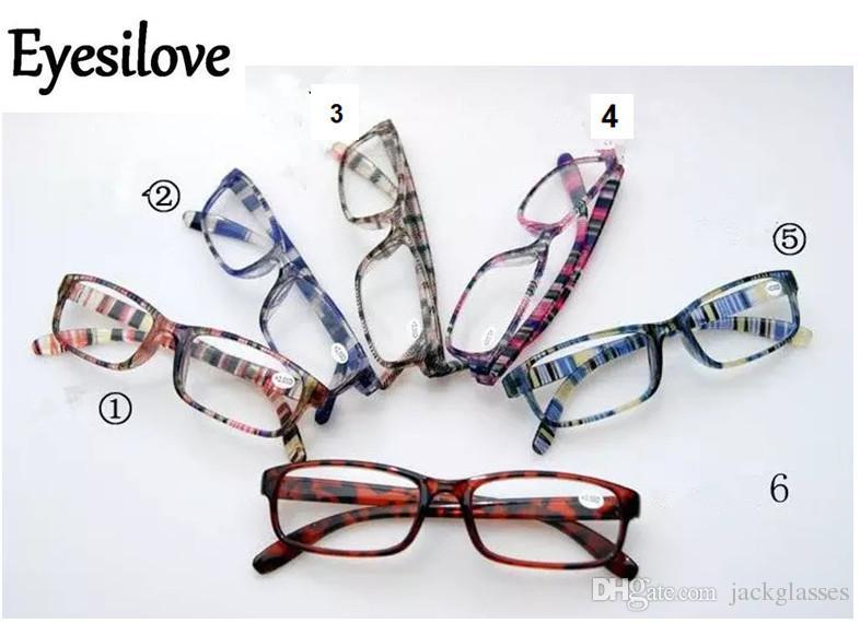 15pcs / lot nouvelle mode lunettes de lecture en plastique en bonne qualité / coloré lunettes de lecture minces 6-7 couleurs