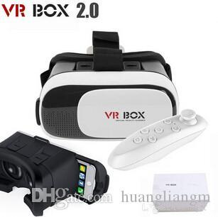 VR Box 2.0 + Gamepad Virtual Reality 3D Occhiali Casco VR BOX Auricolare per Smartphone da 3,5 pollici ~ 6 pollici con pacchetto di vendita al dettaglio