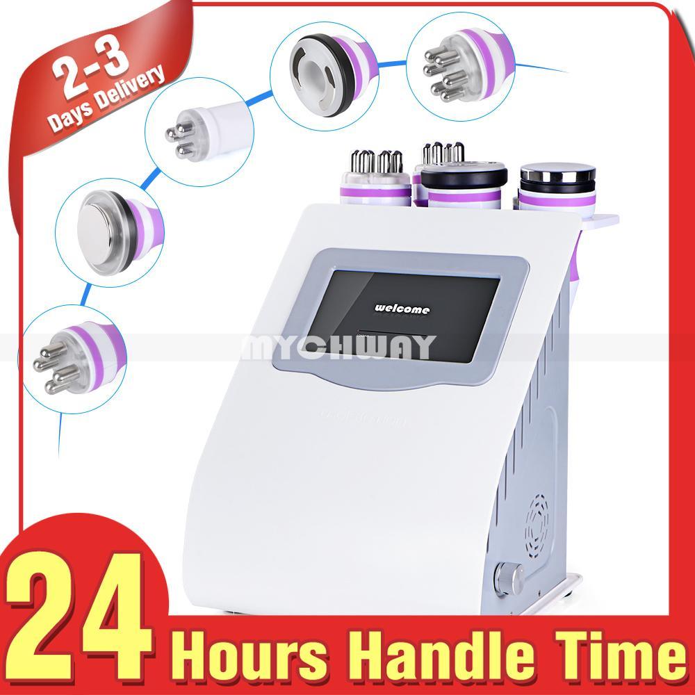 Ekran dotykowy 5in 1 Kwiaty ultradźwiękowe RF 40K ultrasonograficzne Kwiaty radiowe Częstotliwość Photon LED Próżnia RF Ciała Odchudzanie maszyny do salonu