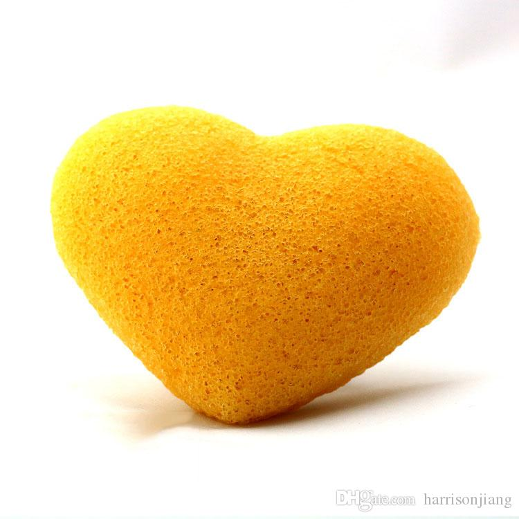 Sponga del viso del viso del viso del viso di konjac a forma di cuore carino a forma di cuore per bambini e pelle sensibile