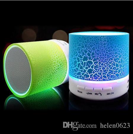 활성 LED 미니 무선 블루투스 스피커 A9 TF USB 휴대용 뮤지컬 서브 우퍼 라우드 스피커 폰 PC와 마이크