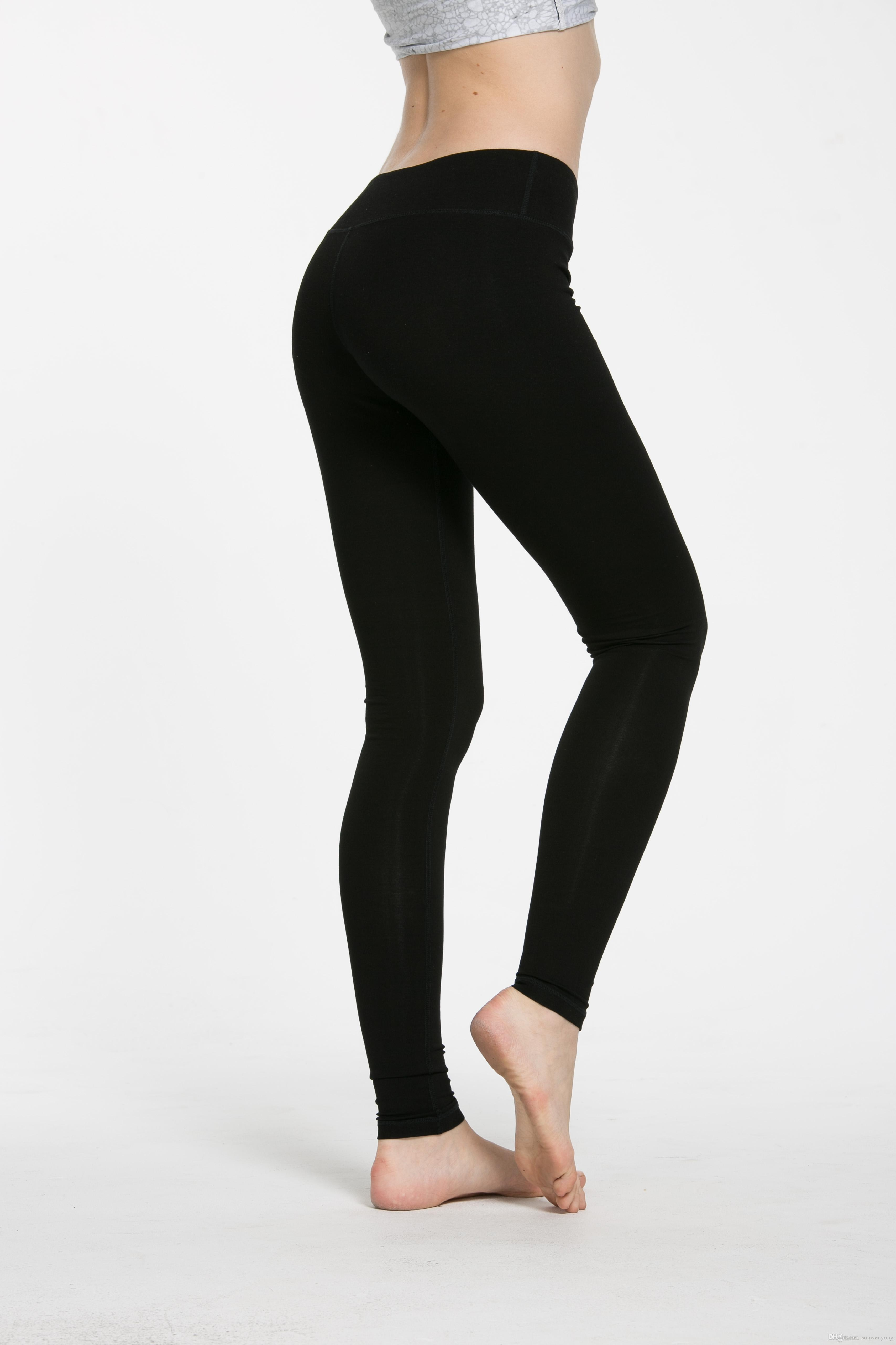 2019 2017 Fashion Sexy Women Yoga Outfits Elastic Leggings Pants Spandex  Thicken Material Clothing Running Dropshipping Ok From Sunwenyong, $18 1 |