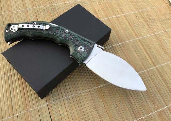 Aço frio nove cauda grande faca 440C 58HRC faca dobrável e Faca de Caça frete grátis 1 pcs