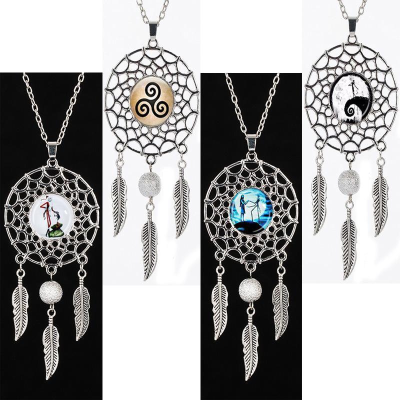 Mode Retro NecklacesPendants für Frauen Dreamcatcher Anhänger Halsketten Gehobene Schmuck Geschenk für Freund / hochwertige Geschenk Halskette
