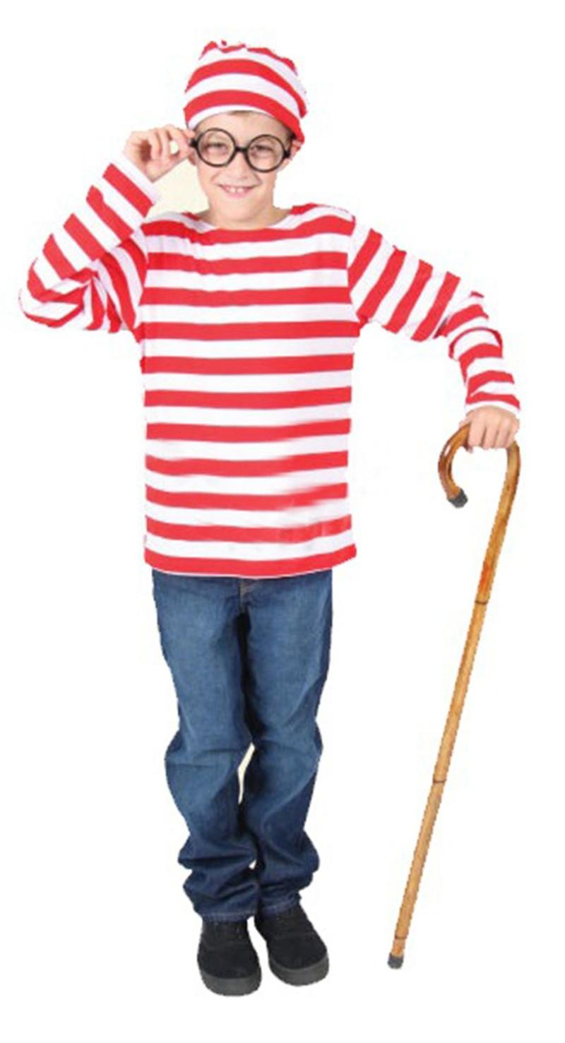 Where\'S Wally Waldo Tv Cartoon Stag Night Outfit Adult Mens Fancy ...