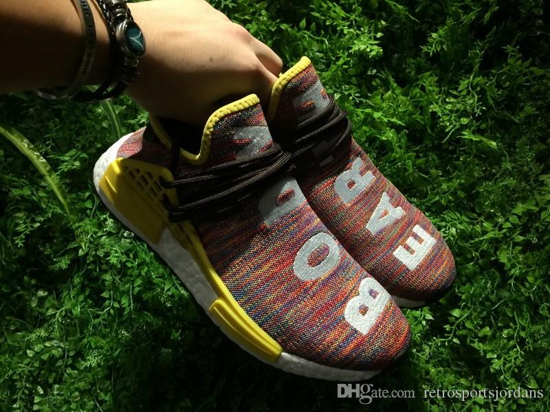 Pharrell Williams X Men NMD Human Race Trail Sneaker Earth & Body HU PW Women Running Shoes Trainer Sports Shoes Rainbow Size 36 48 Best Running Shoes