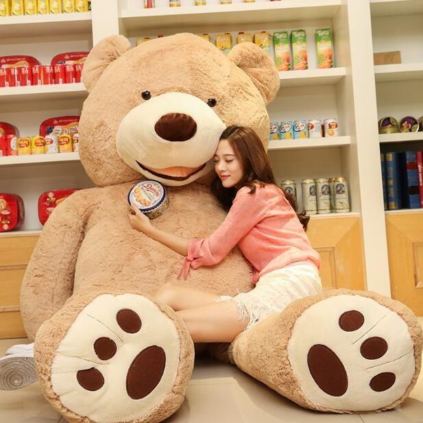 2017 도매 160cm 거대한 거대한 큰 갈색 테디 베어 커버 / 쉘 박제 동물 봉제 부드러운 장난감
