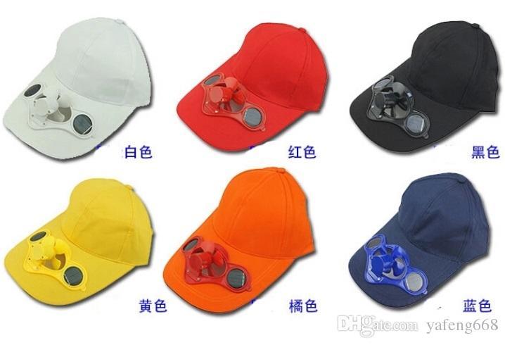 Adulte mâle et femelle chapeau avec ventilateur solaire chapeau de ventilateur hommes et femmes chapeau de soleil casquette de baseball chapeau usine publicité solaire directe