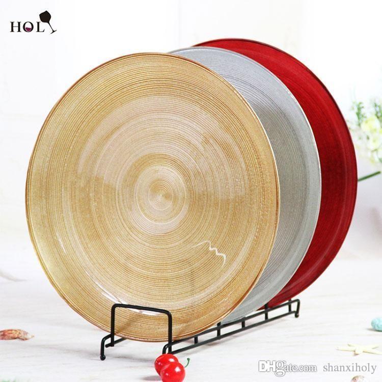 Venda quente Barato Rodada Espiral Padrão Charger Plate