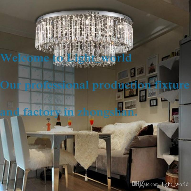 8033 Cm Crystal Ceiling Lamp Modern Low Voltage Lights Round The Living Room