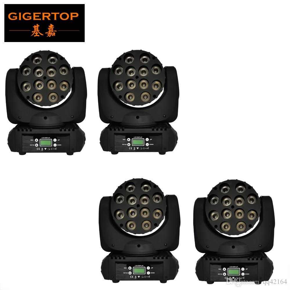 4pcs/lot RGBW 140W LED Stage DJ Lighting Moving Head DMX 512 15 Channels Light Beam For Club Party Show 110V-240V USA Cree Led