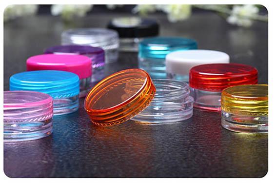 Petite bouteille ronde de crème de 3G, récipient de puissance de fard à paupières mini pot de crème cosmétique pot, emballage cosmétique en gros pour l'échantillon