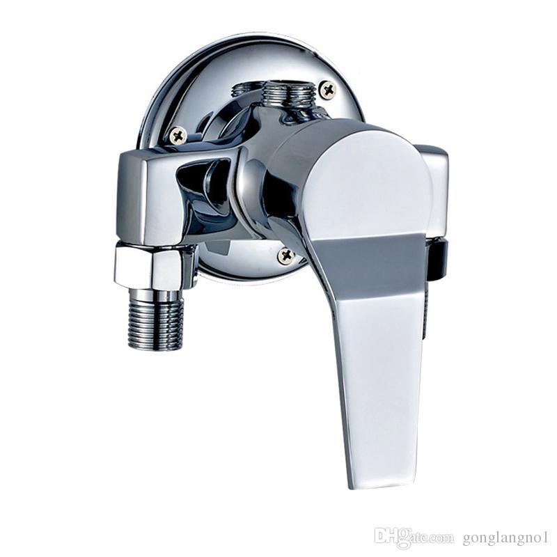 Поверхностный установленный латунный клапан Faucet ливня в кране стены горячем и холодном краны угловой вентиль переключателя ливня