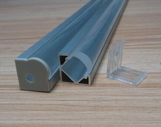 حار بيع شحن مجاني منتجات الألمنيوم عالية الجودة PROFILE CORNER لون لامع مع الزجاج الشفاف للقطاع بقيادة