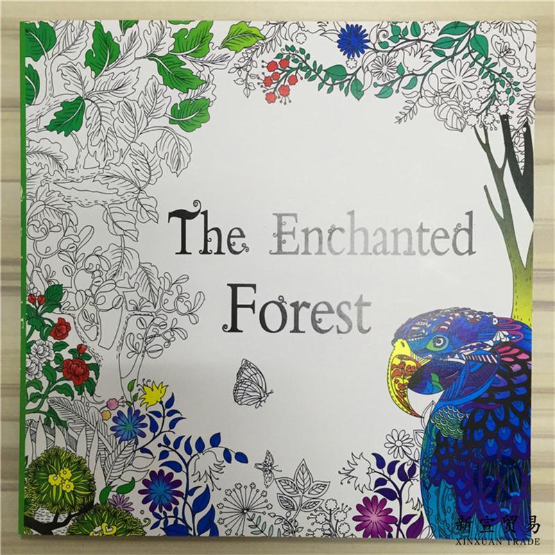 Ing Book Mystery Garden The Enchanted Forest Beauty And Beast Fairy Tales Magical Dreams Drawing Books 24papers48pages Kids Color Coloring