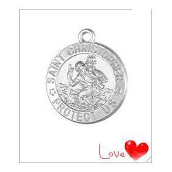 18K-Gold-Silver-Tone-St-Saint-Christopher-Protect-Us-Medal-Necklace-Pendant-Catholic-Protection-Charm-Wholesale