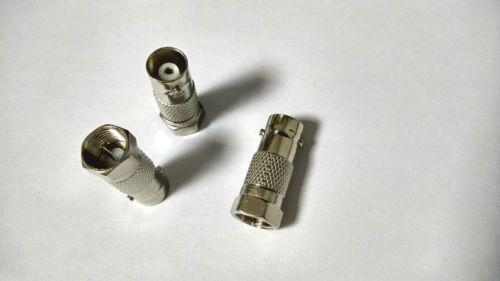 50 pcs métal F mâle à BNC prise femelle pour connecteur coaxial TV CCTV connecteur