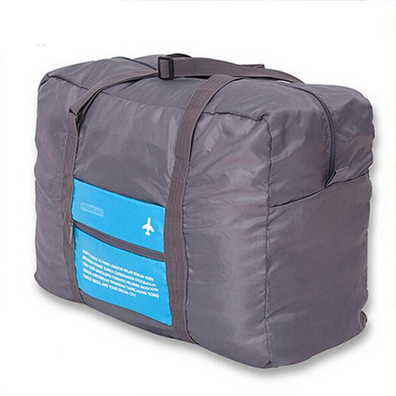 Wholesale- VKTERY Mode wasserdichte Reisetasche große Kapazitäts-Beutel-Frauen Nylon Falttasche Unisex-Gepäck-Spielraum-Handtaschen-freies Verschiffen