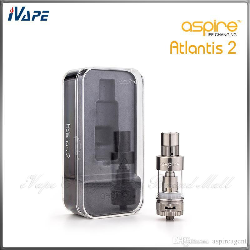 Original Aspire Atlantis 2 Tank 3.0ml Adjustable Airflow Atomizer Aspire Atlantis V2 Sub Ohm Coil Clearomizer With Optimal Cooling System