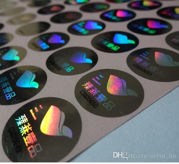 10000 pezzi / set! etichette personalizzate con ologramma colomba stampabile, possono essere con numero di serie, design gratuito! nulla se rimosso
