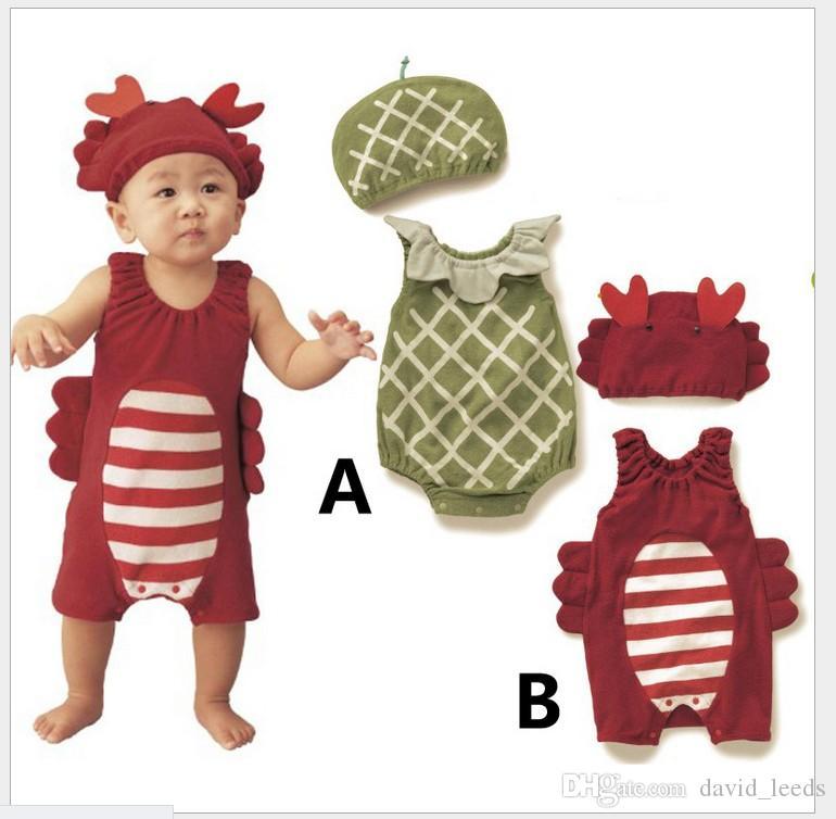 2016 neue Heiße Infant Baby Insekt Modell Strampler Kleinkind Jungen Sommer Sleeveless Overalls Mit Hut Babys Kleidung Neugeborenen Onesies Ein-stücken