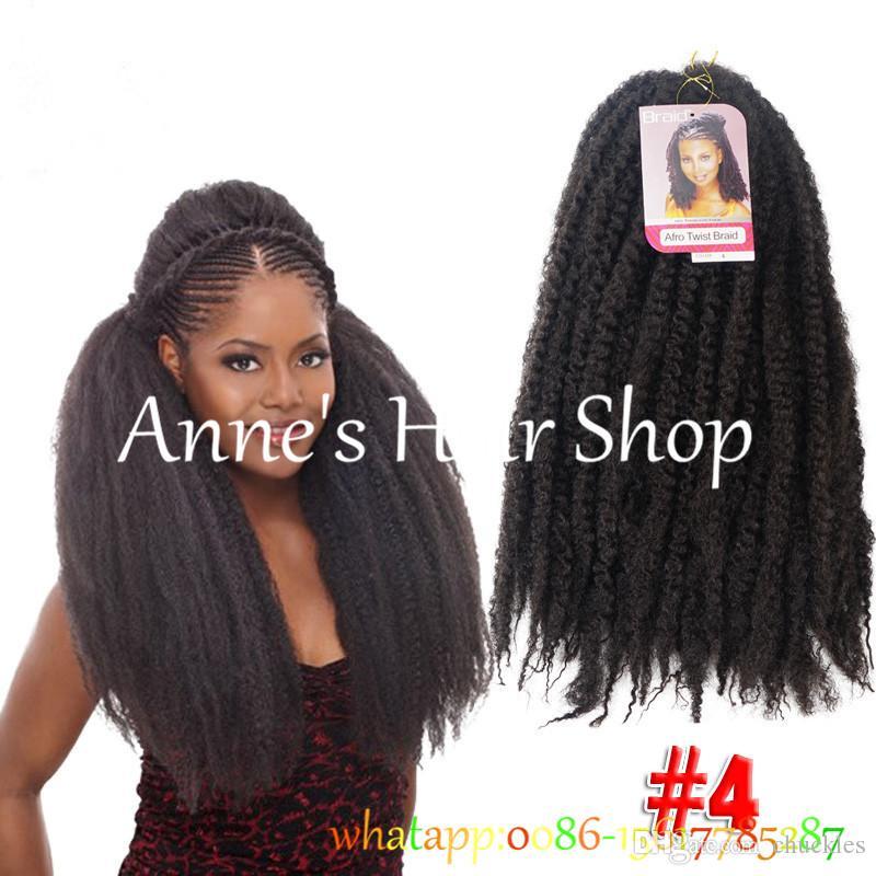 Black Color Crochet Marley Braid Braiding Hair Extensions 100gpiece