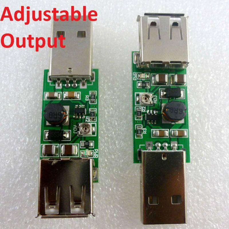 2x 7W USB 5V to 9V 12V 15V Adjustable DC DC Converter Step Up Boost Module for LED Moter Wireless controller Solar Charger
