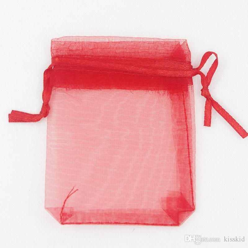 선택을위한 500PCS 7 × 9 cm 오간자 가방 결혼식 호의 랩 파티 선물 가방 2.75 인치 X 3.5 인치 15 색
