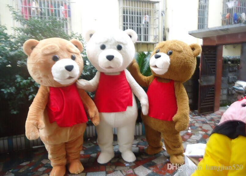 2016 100% positive feedback seller hot sale tedy costume adult fur teddy bear mascot costume