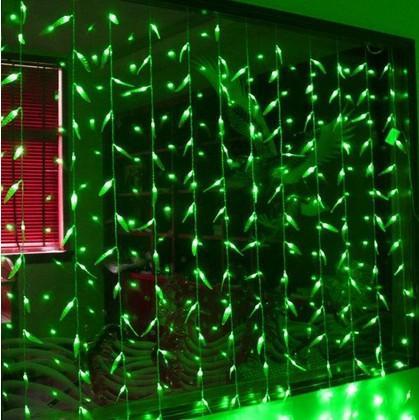2m * 1.6m grüne LED Weide Vorhang Girlande Zeichenfolge Weihnachtsbeleuchtung Verkauf Neujahr Urlaub Party Hochzeit Luminaria Dekoration Lampe