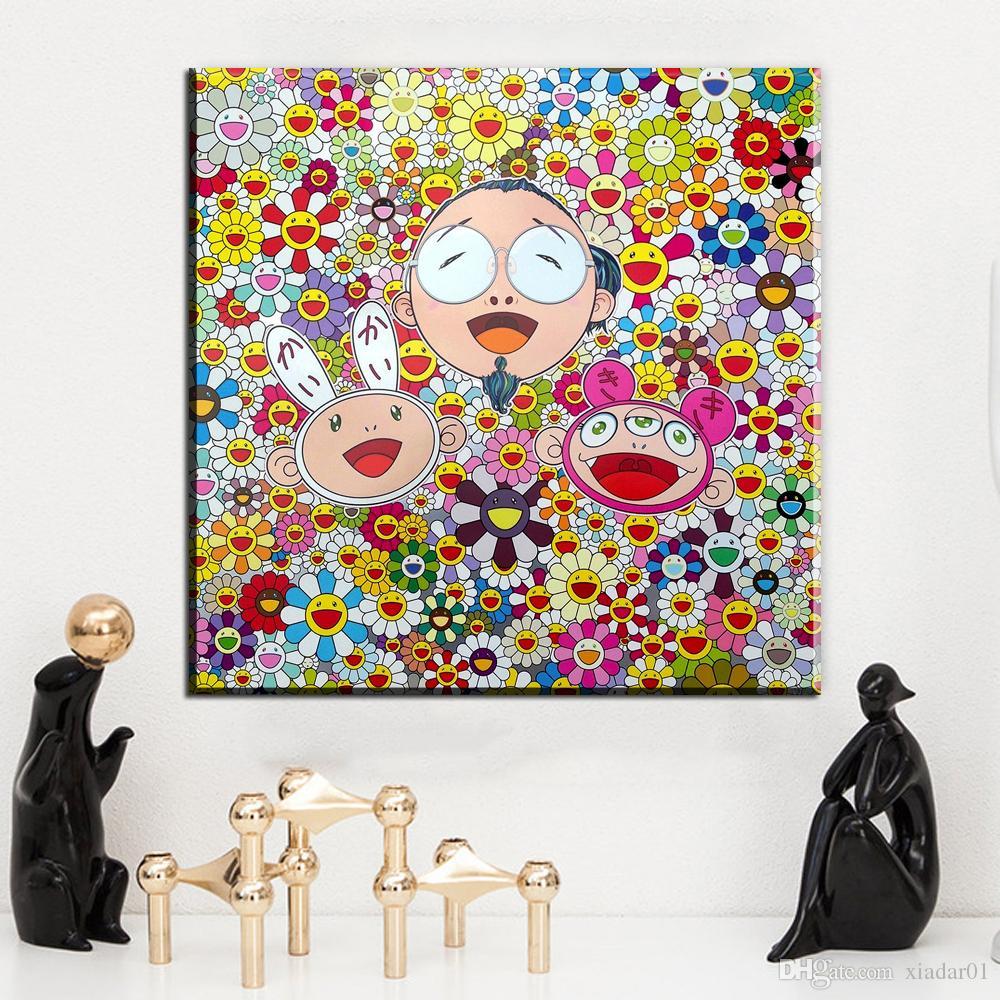 ZZ1494 moderne toile abstraite art dessin animé toile photos art huile peinture pour salon décoration chambre peintures sans cadre