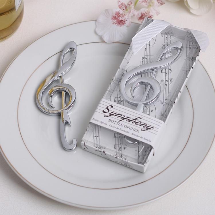 Acier inoxydable Musique Note Symphonie Conception Bière Bouteille Ouvre Argent Anniversaire Faveurs De Mariage Cadeaux 100 p? Cs / lot
