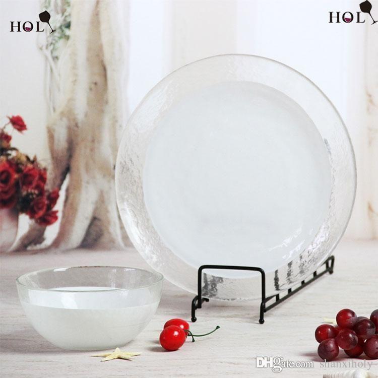 Placa de carregador de vidro branco barato por atacado