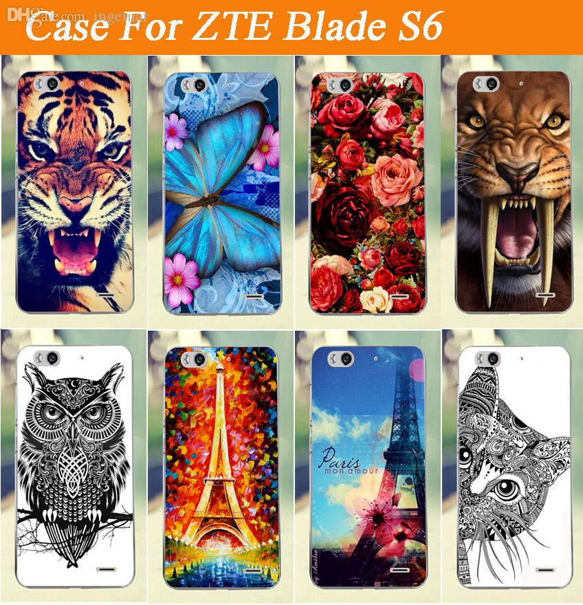 best sneakers 98370 c3763 Wholesale Hot Colored Painting Case Cover For ZTE Blade S6 Diy Painted  Flowers Animals Eiffer Tower Design Case Cover FOR ZTE Blade S6 Leather  Cell ...
