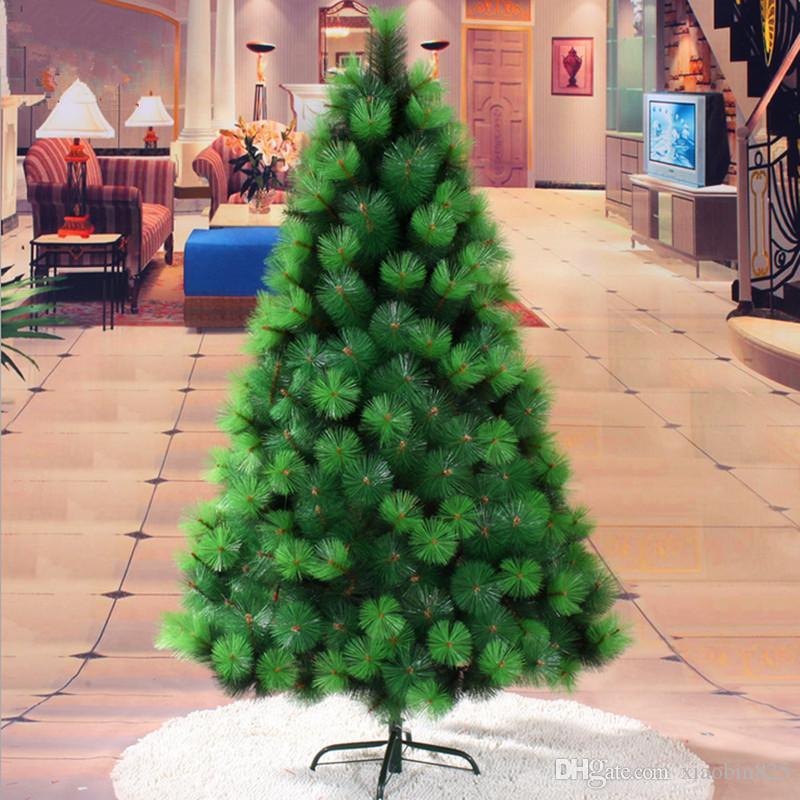 1,5 m / 150 CM farbe grün kiefernnadel baum PVC kunststoff weihnachtsbaum dekoriert Weihnachten material