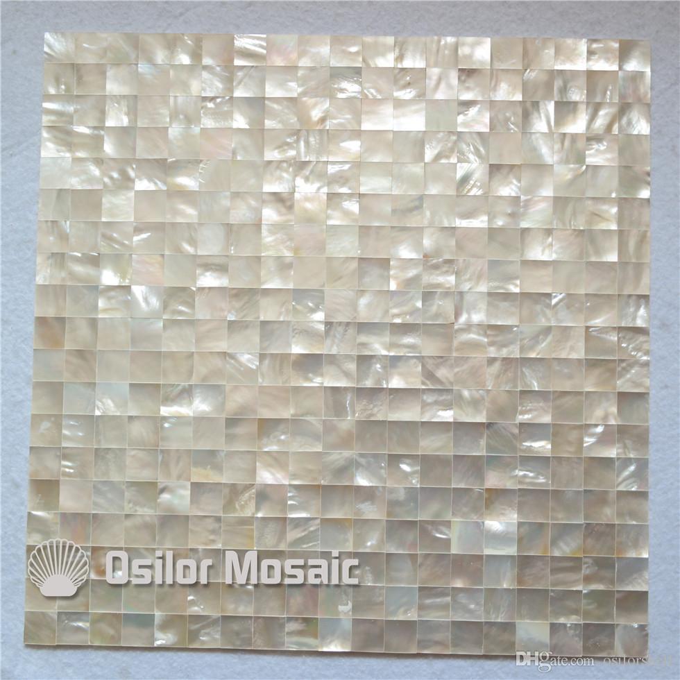 Großhandel Whitelip Sea Shell Nahtlose Perlmutt Mosaik Fliesen Für  Innenhaus Dekoration Küche Und Badezimmer Wandfliesen Nahtlose Shell  Fliesen Von