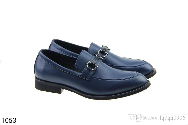 New designer branded men part suits shoe British style Vogue Lux dress shoes Slip-on Flats Gift 40-46