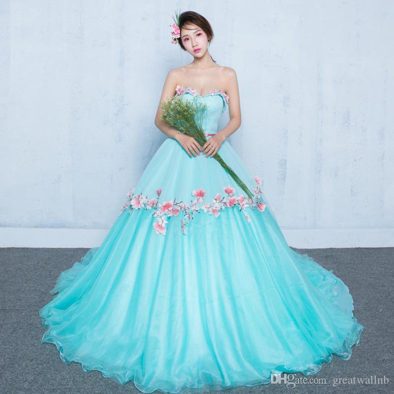 Luz azul flor bordado cintura beading vestido de baile vestido medieval renascimento vestido rainha vitoriano cosplay vestido de baile belle bola