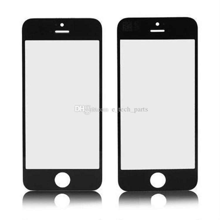 500 ADET Ön Dış Cam Lens ile OCA Filmi Ön montajlı iPhone 4 4 S Cam OCA Filmi iPhone 5 5 S 5C Yenileme parçaları