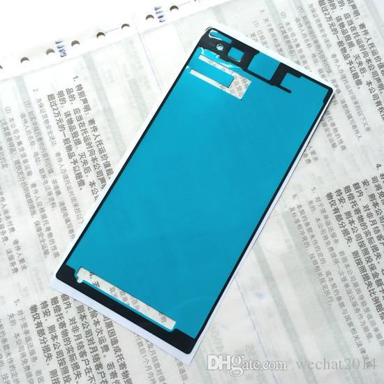 1000 STÜCKE Pre Cut Batterie Vorne Lcd-bildschirm Wasserdicht Klebeband Aufkleber für Sony Z1 Z2 Z3 mini XL39H L39H L36H C6603