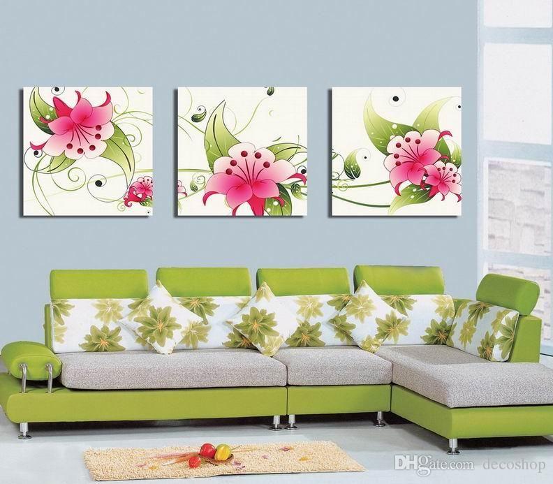캔버스 홈 장식 벽 예술 Set30362에 현대 아름 다운 꽃 좋은 꽃 회화의 giclee 인쇄