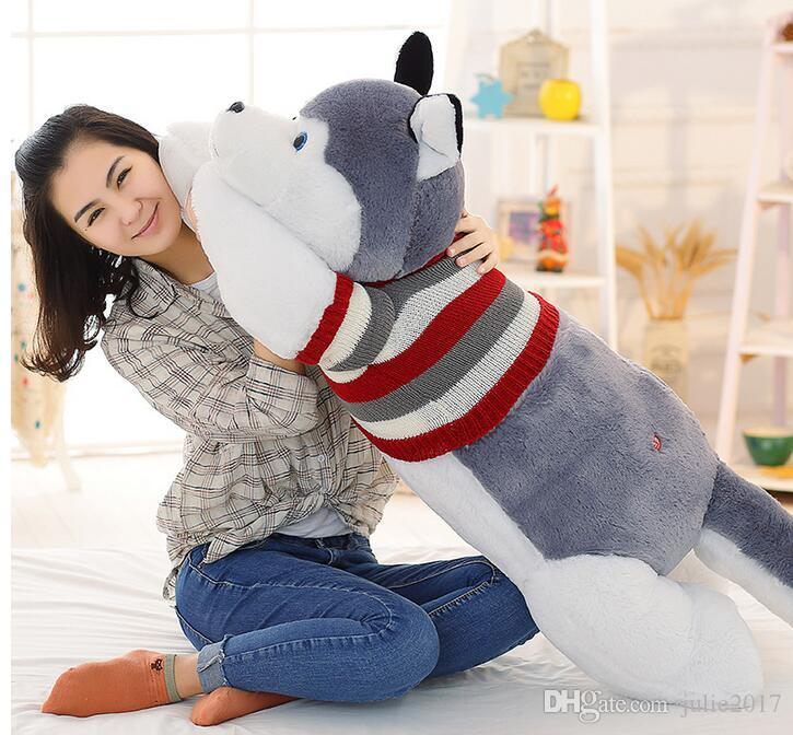 Husky Siberian Plush Toy Shell Animal Doll Pillow Cute Figure Gift 170cm (WITHOUT STUFFED) Christmas Gifts