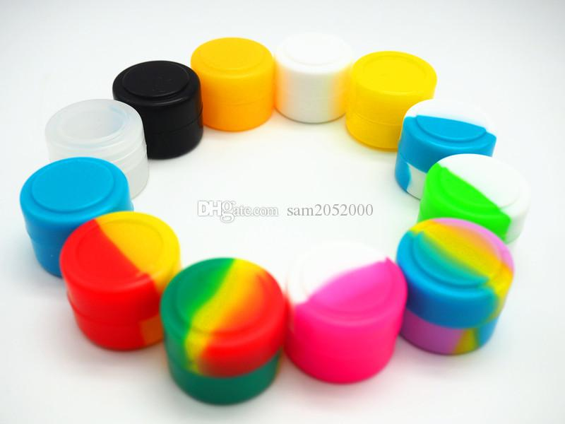 (10000pcs/lot) 2ML quality approved silicone container 22x17mm