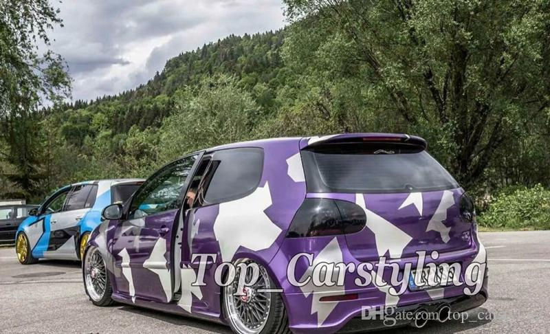 Purple white large pixel camo car wrapping film camouflage car styling camo vinyl car wrap with bubble free for vehicle truck wraps