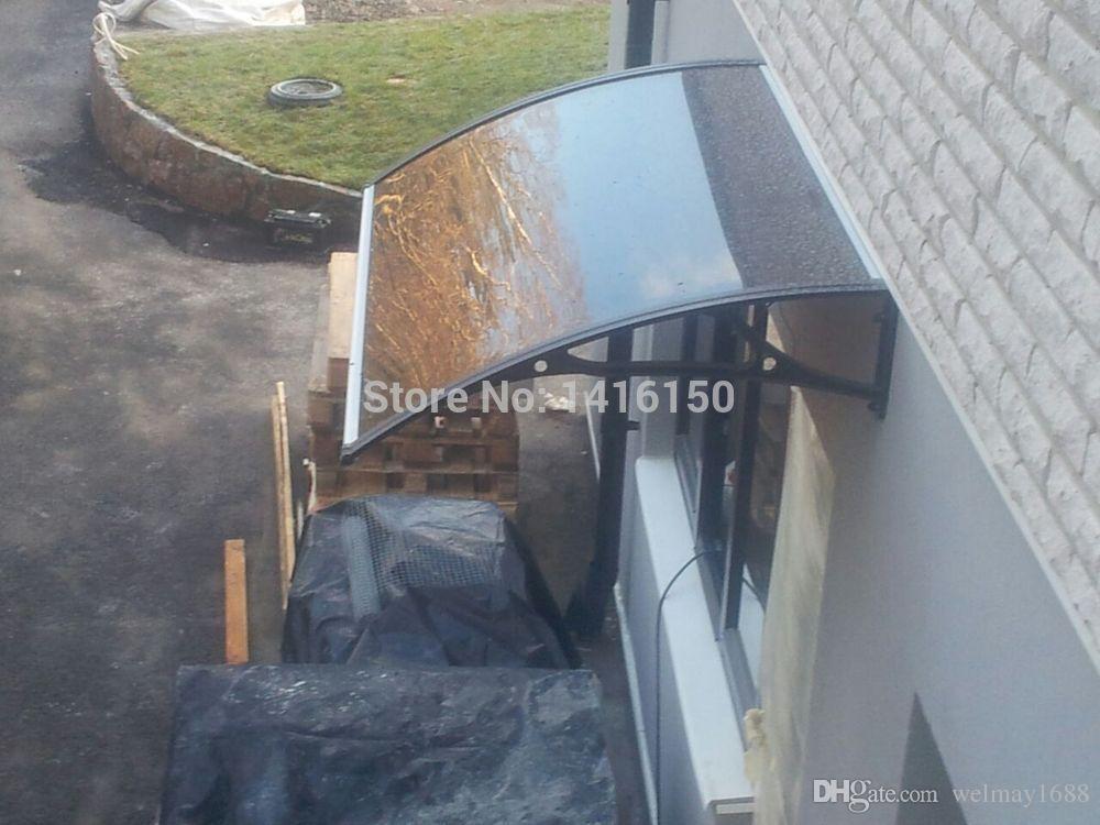 DS100120-A, 100x120cm. Profondeur 100cm, Largeur 120cm.Auvent pour fenêtre / porte, Support en aluminium pour porte auvent noire / blanche / grise, Auvent pour porte