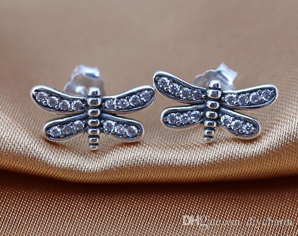 6 Dragonfly charms antique silver tone A85